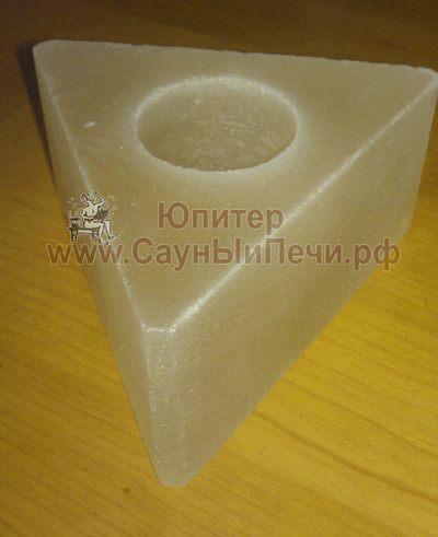 Подсвечник из гималайской соли, форма Треугольник, СЛ