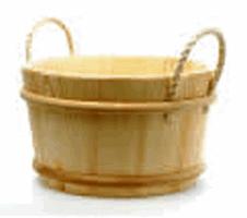SAUNASET Ведро №256 8 л, сосна, ручки из бечевы, зНН01940