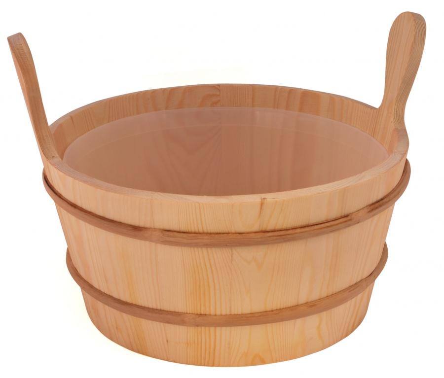 SAWO Ведро деревянное 10 л. с пласт.вст. 300-TD
