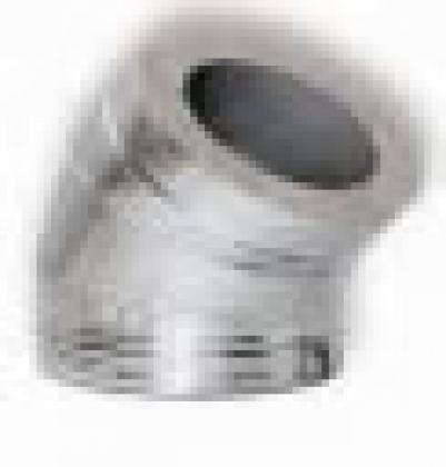 Колено с изоляцией, Д =230/AISI-430 мм, 45 гр, н+н, AISI-304/AISI-430 0,8/0,5, ДСЗ