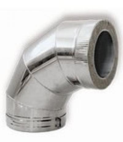 Колено с изоляцией, Д =230/330 мм, 90 гр, н+н, AISI-304/AISI-430 0,8/0,5, ДСЗ