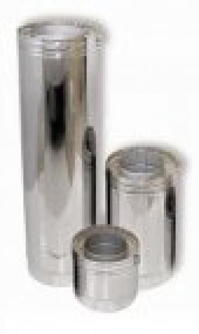 Дымоход с изоляцией, Д=100/200 L=0,15 м, н+н, AISI-304/AISI-430 0,5/0,5, ДСЗ