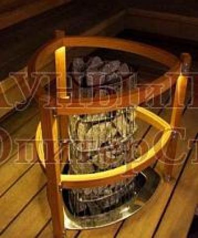 HARVIA Защитное ограждение для электрической печи KIVI со светодиодной подсветкой, артикул SASPI230, 6410082610051
