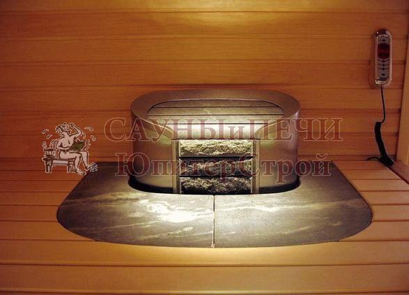 HELO Воротник для элетрической печи CAVA из талькохлорита, серый, зНН03864