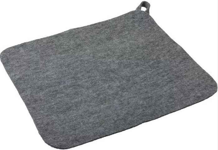 Коврик для сауны серый (35 х 40 см) 41182