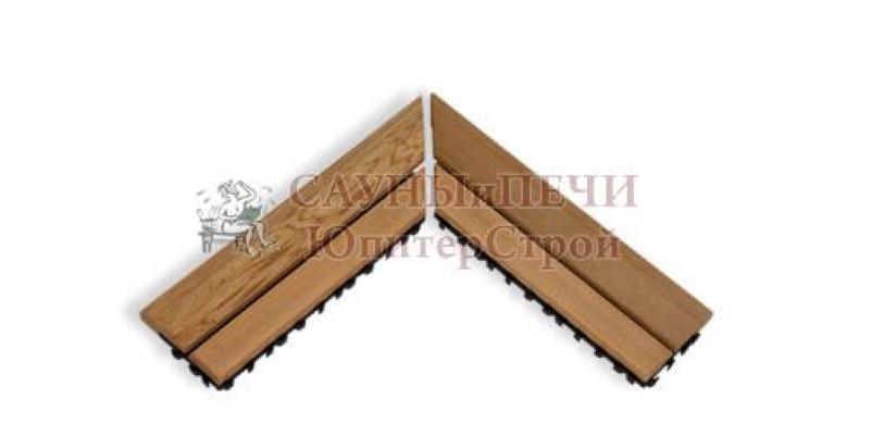 SAWO Коврик деревянный на пол, 595-D-CNR угловой, зНН06623