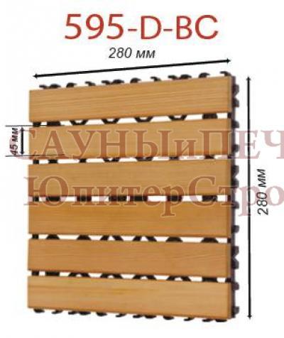 SAWO Коврик деревянный на пол, 595-D-BLK центр