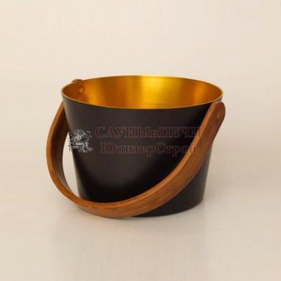 Бадья, алюминий, с кругл.ручкой, цвет черный/золотистый, 5л, 23,5x16см, 804 sw/gd, Blumenberg