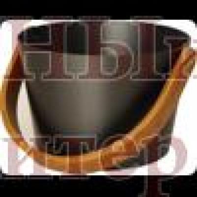 Бадья, алюминий, с круглой ручкой, цвет черныйй, 5л, 23,5x16см, 804 sw, Blumenberg
