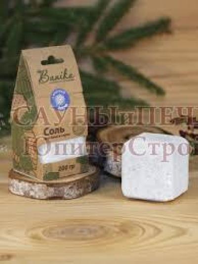 Брикет соляной Соль для бани с эфирным маслом пихты, 200гр