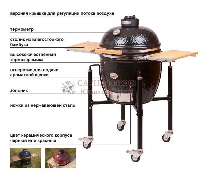 MONOLITH GRILL - черный цвет Le Chef XL очень большой.
