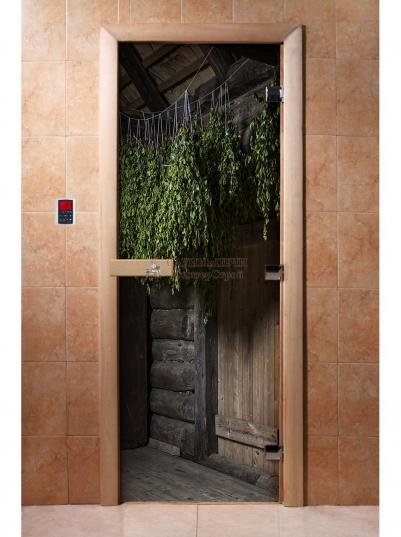 Дверь для сауны DW Фотопечать арт. А002 190х70