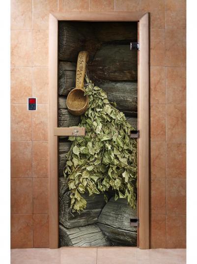Дверь для сауны DW Фотопечать арт. А003 190х70