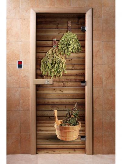 Дверь для сауны DW Фотопечать арт. А004 190х70