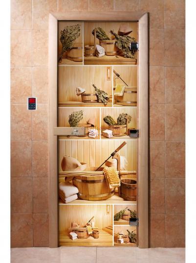 Дверь для сауны DW Фотопечать арт. А005 190х70