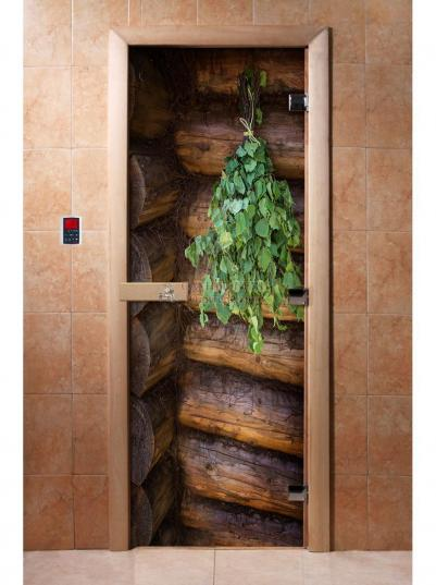 Дверь для сауны DW Фотопечать арт. А007 190х70