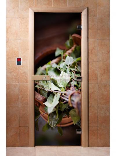 Дверь для сауны DW Фотопечать арт. А008 190х70