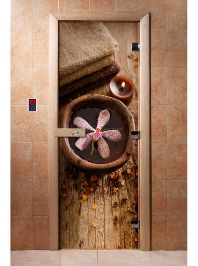 Дверь для сауны DW Фотопечать арт. А009 190х70