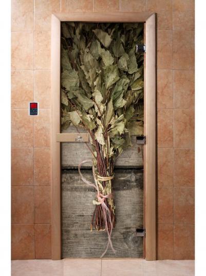Дверь для сауны DW Фотопечать арт. А011 190х70