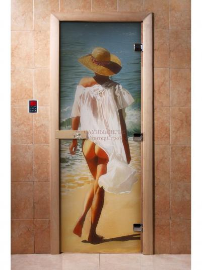 Дверь для сауны DW Фотопечать арт. А013 190х70