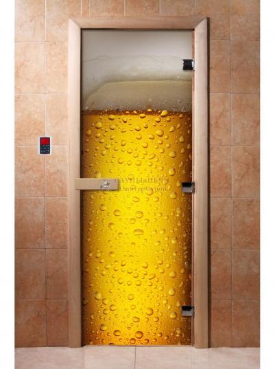 Дверь для сауны DW Фотопечать арт. А014 190х70