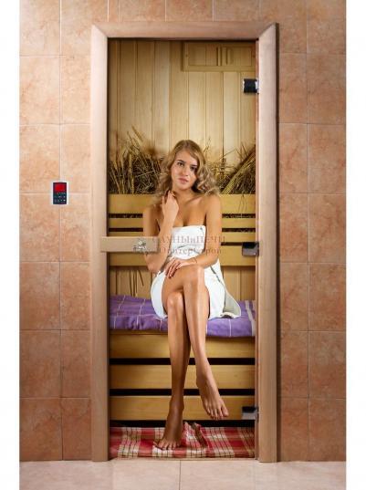 Дверь для сауны DW Фотопечать арт. А015 190х70
