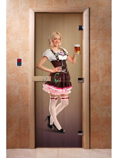 Дверь для сауны DW Фотопечать арт. А016 190х70