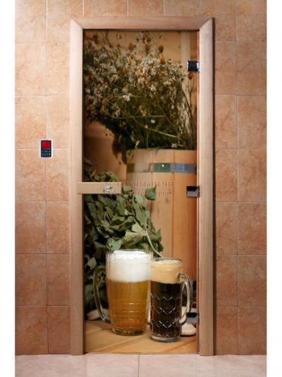 Дверь для сауны DW Фотопечать арт. А017 190х70