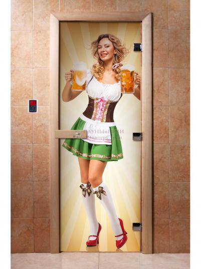 Дверь для сауны DW Фотопечать арт. А018 190х70