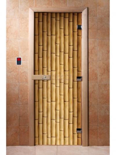Дверь для сауны DW Фотопечать арт. А019 190х70