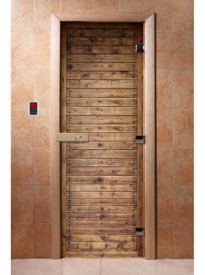 Дверь для сауны DW Фотопечать арт. А020 190х70