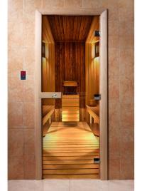 Дверь для сауны DW Фотопечать арт. А036 190х70