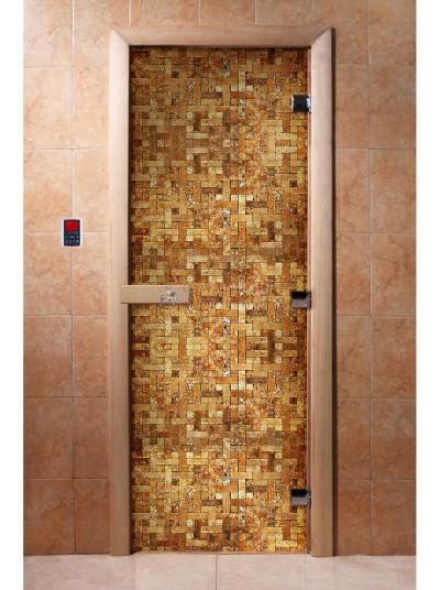 Дверь для сауны DW Фотопечать арт. А054 190х70