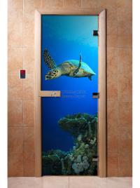 Дверь для сауны DW Фотопечать арт. А086 190х70