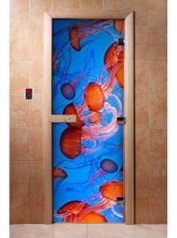 Дверь для сауны DW Фотопечать арт. А088 190х70