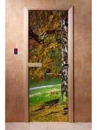 Дверь для сауны DW Фотопечать арт. А089 190х70