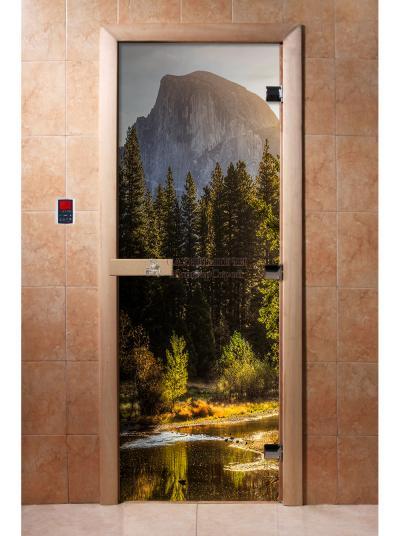 Дверь для сауны DW Фотопечать арт. А090 190х70