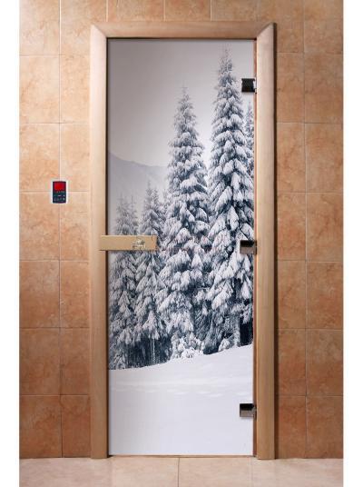 Дверь для сауны DW Фотопечать арт. А091 190х70