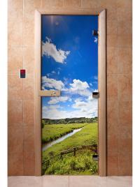 Дверь для сауны DW Фотопечать арт. А092 190х70