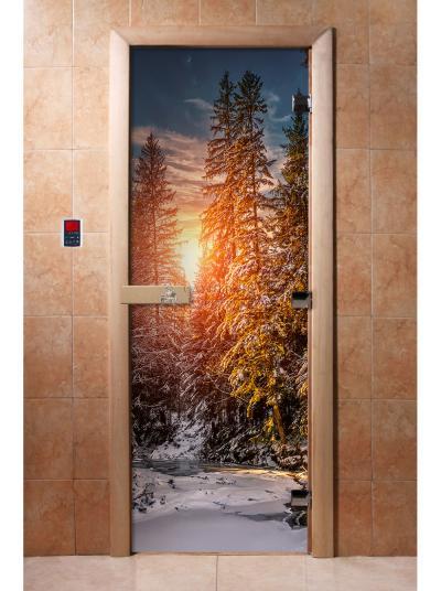 Дверь для сауны DW Фотопечать арт. А093 190х70