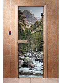 Дверь для сауны DW Фотопечать арт. А094 190х70
