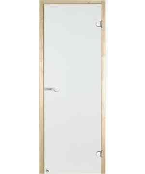 Дверь двойная стеклянная STG 13х19 коробка ольха, стекло прозрачное, Harvia