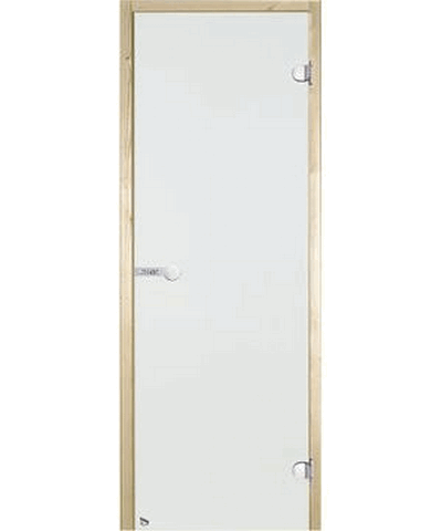 Дверь стеклянная STG 9x21 коробка сосна, прозрачная, Harvia