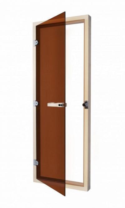SAWO Дверь 730-3SGA-L, 690mm х 1890mm, бронза без порога, левая, осина, 730-3SGA-L (Р)