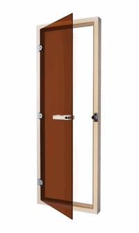 SAWO Дверь 730-3SGA-L, 690mm х 1890mm, бронза без порога, левая, осина, 730-3SGA-L