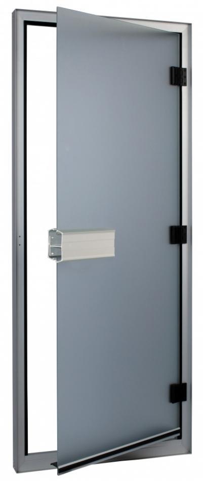 SAWO Дверь 740-L, коробка алюминий 785 mm x 1850 mm (левая), прозрачное стекло, 740-L