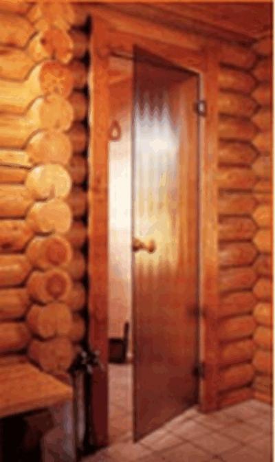 Дверь стеклянная (сатин) 7/19, коробка алюминий, (для турецкой парной),