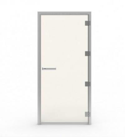 Дверь стеклянная (для турецкой парной), коробка алюминий,  60G 10x19 (прозрачное стекло, петли слева), 90912288, Tylo