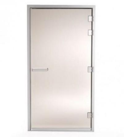 Дверь стеклянная (для турецкой парной), коробка алюминий,  101G  левая  Белый ПРОФ�ЛЬ, 90912032, Tylo