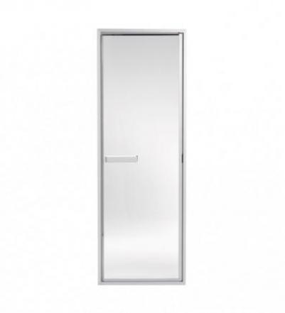 Дверь стеклянная (для турецкой парной), коробка алюминий, 50G прозрачное стекло, 90911010, 185x64, Tylo
